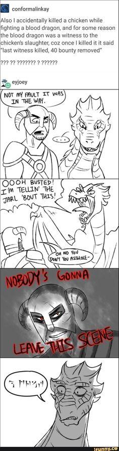 Tattle Tale Dragon Skyrim, Video Game Meme, Gaming Meme, Funny Gaming #videogamememes #videogamenews