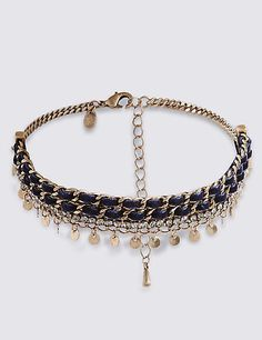 M&S Collection Sparkle Droplets Choker Necklace