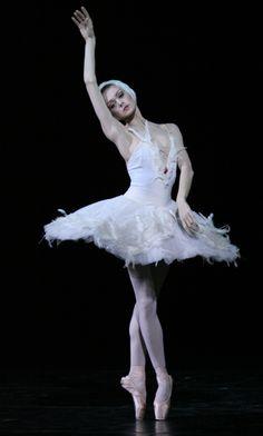 """Uliana Lopatkina in """"Dying Swan."""" Photo by Natasha Razina."""