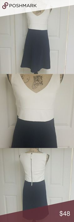 J. Crew Navy Blue and White Dress Excellent condition J. Crew Dresses
