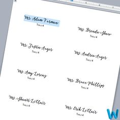 Customize Layered Place Cards In Microsoft Word Print Template And Cutting Guidelines Post Wedding Programs Make Your