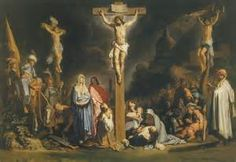 This is a painting of Rembrandt. This painting is particularly different to all the other paintintings of the Crucifixion in history. In that he painted himself in the crowd. Crucifixion Of Jesus, Jesus Christ, Savior, Akiane Kramarik Paintings, Bishop Barron, Jesus Wallpaper, William Adolphe Bouguereau, Hieronymus Bosch, Artists For Kids