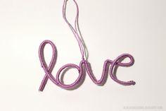 DIY Wire Wrapped Love Ornament #christmas #craft #20CraftyDaysofChristmas
