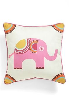 PJ Salvage Elephant Pillow available at #Nordstrom. To always remind me of Africa
