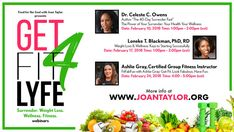 Food For The Soul with Joan Taylor Presents Get Fit4Lyfe in 2018 Surrender. Weight Loss. Wellness. Fitness. Webinars