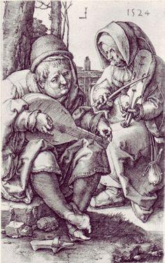 Lucas van Leyden.1524. Músics.