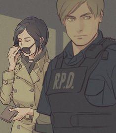 Ada and Leon, Resident Evil 2 Resident Evil 3 Remake, Resident Evil Franchise, Resident Evil Anime, Ada Resident Evil, Fanart, Resident Evil Collection, Videogames, Leon S Kennedy, Evil Art