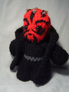 star wars crochet darth maul handmade facebook.com/pamcrafted etsy.com/shop/pamcrafteduk