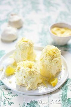Merveilleux au chocolat blanc et coeur de citron