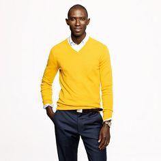Slim cashmere V-neck sweater/