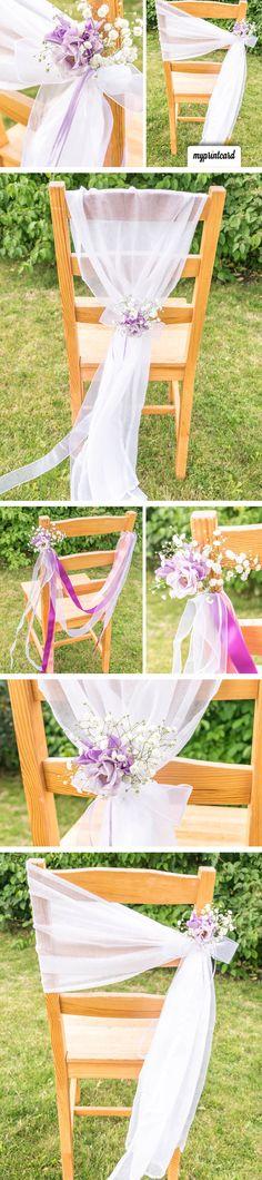 Eine kreative Stuhldeko für die Hochzeit. Ganz ohne Stuhlhusse könnt Ihr mit…