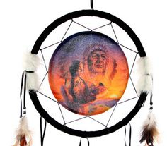 Decorative Native American Generations 34cm Dreamcatcher Dreamcatchers are a great way to add colour and design to your home or workplace Made from a