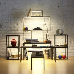 BlancoWhite by Estudi Arola for Santa & Cole -  Stackable tables, shelves and surfaces with light from their undersides.