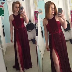 Blake Lively Burgundy Prom Dress Cannes Size 4  PERFECT CONDITION only worn once  looks just like the picture   runs VERY true to size  100% smoke and pet free home  price negotiable  happy poshing! Thecelebritydresses.com Dresses Maxi