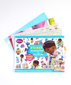 Doc McStuffins Doc McStuffins Play Scene Sticker Pad Set by Doc McStuffins #zulily #zulilyfinds