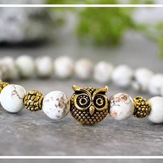 New Owl Gemstone Bracelets! Available in different sizes! Shop now!