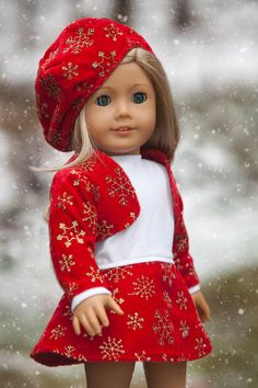 American Girl Clothes Christmas Dress by TotalAmericanSheek