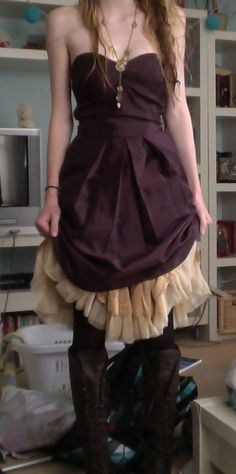 Short steampunk dress with boots