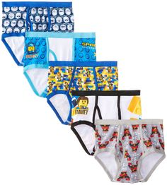 Handcraft Little Boys' Lego Movie  Brief (Pack of 5), Assorted, 6. #clothe