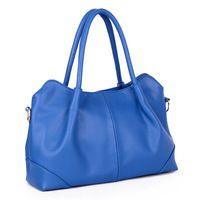 Fashion Trend Joker Ladies' Leather Handbag Women Single Shoulder Bag With Outside Zipper Pocket
