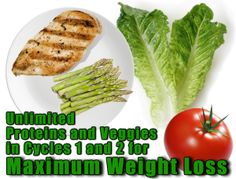 Diet Tip for Cycles 1 and 2 of the 17 Day Diet: Eat unlimited lean proteins and veggies to maximize weight loss. #17DayDiet