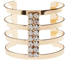 Charlotte Russe Embellished Caged Cuff Bracelet ($6) ❤ liked on Polyvore featuring jewelry, bracelets, gold, hinged cuff bracelet, rhinestone jewelry, charlotte russe, rhinestone bangle and cuff bracelet
