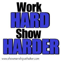 Work hard, show harder!  www.showmanshipathalter.com