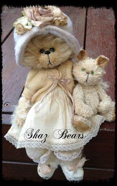 Cody and Puss by By Shaz Bears | Bear Pile