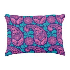 Paisley Pattern 2 Accent Pillow