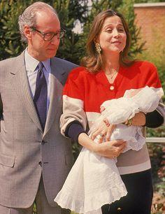 Isabel Preysler y Miguel Boyer con su hija Ana