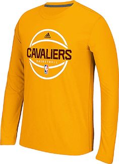 b0a7c78131e Golden State Warriors Adidas On-Court Gold Pre-Game Ultimate Synthetic  Slimmer Fit Long Sleeve T Shirt. GameTimeUSA · Cleveland Cavaliers Apparel