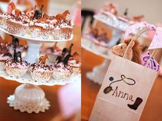 pink cowgirl party...we could make cupcakes and place little ponies on each one!