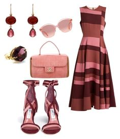 """Minimal chic outfit"" by irini-stam on Polyvore featuring Roksanda, Jimmy Choo, Irene Neuwirth, Chanel and Gucci"