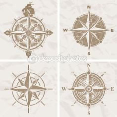 Vintage compass roses. Love them!!