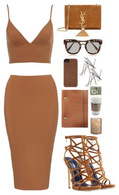 """""""True Brown"""" by finding-0riginality ❤ liked on Polyvore featuring Yves Saint Laurent, Bottega Veneta, Dsquared2, Incase and Arteriors"""
