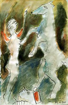 """""""2ο νουμερο με σλογο"""" και παλι κατω καποιος θεατης μοιαζει να απορει με ολ' αυτα... Abstract, Artwork, Painting, Summary, Work Of Art, Auguste Rodin Artwork, Painting Art, Artworks, Paintings"""