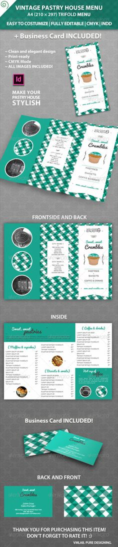 Vintage Pastry House Menu Template