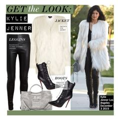 """Get The Look-Kylie Jenner"" by kusja ❤ liked on Polyvore featuring Balenciaga, Christian Louboutin, GetTheLook, celebstyle and KylieJenner"