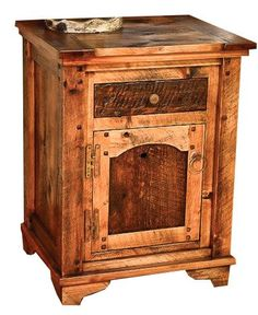 Rustic Nightstand Dusty Roads Collection