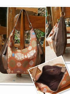 Handmade tenun bag mixed with leather by pepitowarehouse on Etsy