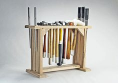Jewelry tools / Tools holder organizer Freestanding Hammer Stand The Rack measures about 18 x 6 deep x 13.5 tall Holds about 12 hammers and 3 ring mandrels and 2 bezel mandrels Great for keeping your bench organized, attach to table or use free-standing Made of solid Oak wood Sanded and ready for your finish or use like it is The design of the stand was the result of many years of trial and error. Like you I had so many hammers and mandrels I had to do something... thus this design was...