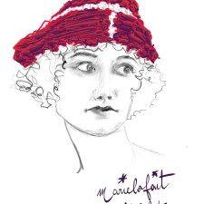 Femme au chapeau de velours rouge