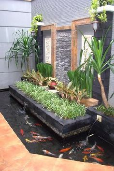 Backyard diy pond garden fountains Ideas for 2019 Backyard Garden Design, Ponds Backyard, Small Garden Design, Garden Pool, Tiny Garden Ideas, Modern Backyard, Balcony Garden, Garden Planters, Pond Design