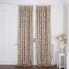 Country Floral Jacquard Thermal Curtain  #curtains #homedecor #decor #homeinterior #interior #design #custommade Thermal Curtains, Interior Design, Cool Stuff, Country, Floral, Room, Home Decor, Nest Design, Bedroom