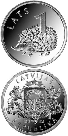 A 2012 1 Lat coin. I will find one... http://www.coin-database.com/images/Latvia/2972-v.jpg