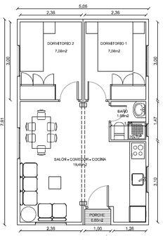 Planos Casas de Madera Prefabricadas: Plano de casa de Madera 40 m2 Cod 2002 Más