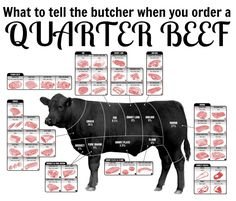 What to tell the butcher when you order a quarter (or half) of beef - beef share, cow share, eating whole, clean eating