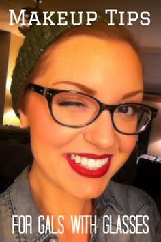 Makeup tips for gals who wear glasses. Avon wash off waterproof mascara. Streak-free. Washes off with soap and water.