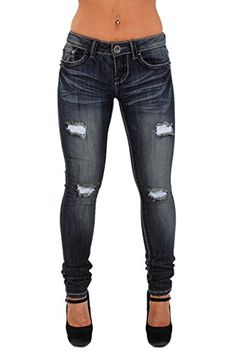 JO1482 -The Rocker Slim Fit by dollhouse, Ripped Premium Skinny Leg Jeans in Dark Blue Size 1 dollhouse http://www.amazon.com/dp/B00USMYSHG/ref=cm_sw_r_pi_dp_j5eMvb19BP9ZR