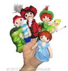 PETER PAN Finger Puppets Pdf Email Knit PATTERN von HandMadeAwards